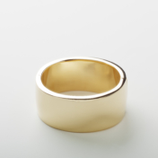Wide Yellow Gold Bangle Bracelet
