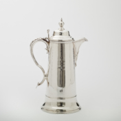 Antique Silver Flagon Pitcher