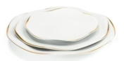 Etincelle Or Dinner Plate