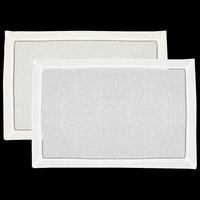 White Hemstitch Placemats