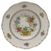 """Indian Basket Rim Soup Plate  8""""D"""