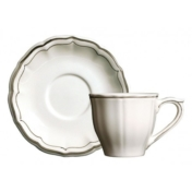 filet taupe cup and saucer