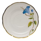 "Amer Wildflower-Mg Tea Saucer - Morning Glory  6""D"