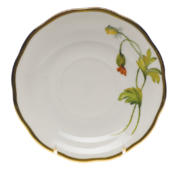 "Amer Wildflower-Po Tea Saucer  - California Poppy 6""D"