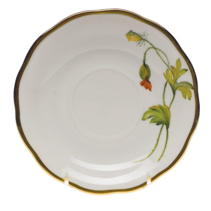 "Amer Wildflower-Po Tea Saucer  - California Poppy 6""D"