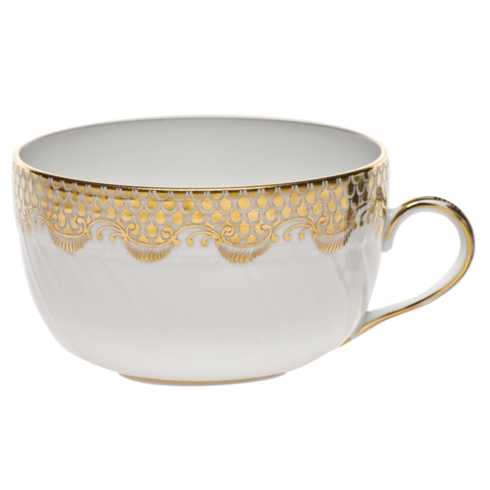 Fishscale Gold Canton Cup by Herend