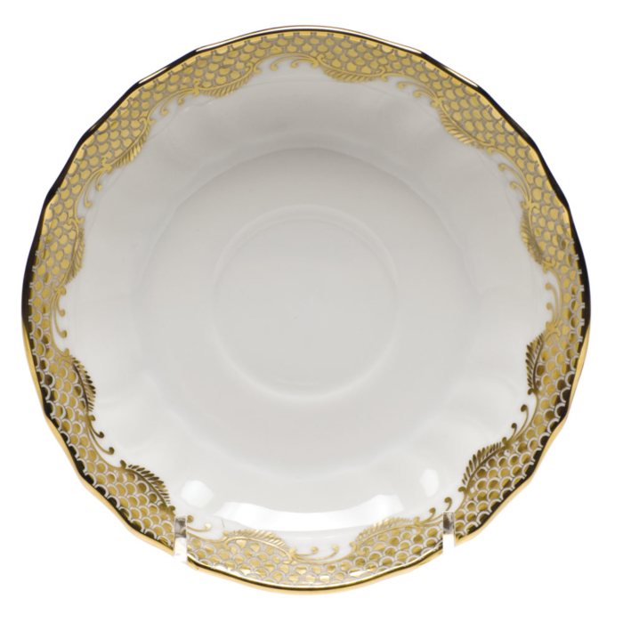 Fishscale Gold Canton Saucer