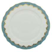 Fishscale Turquoise Dinner Plate Herend