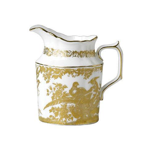gold aves cream jug