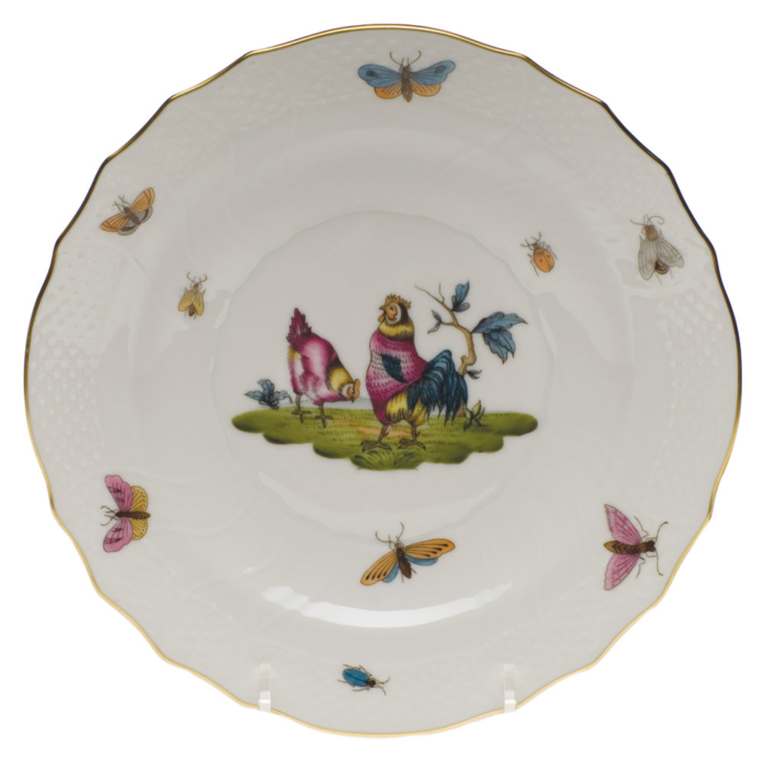 "Chanticleer Salad Plate - Motif 02 7.5""D"