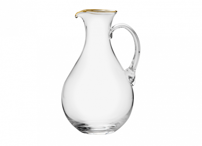 Gold Rim Pitcher