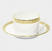 HAVILAND PLUMES OR TEA CUP AND SAUCER