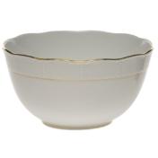"Golden Edge Round Bowl  (3.5 Pt) 7.5""D"