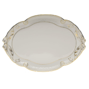 Herend Golden Edge Ribbon Tray