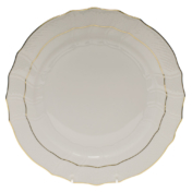 "Golden Edge Dinner Plate  10.5""D"