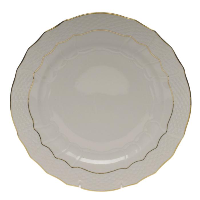 """Golden Edge Service Plate  11""""D"""