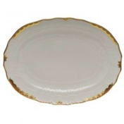 HEREND 15 OVAL PLATTER PRINCESS VICTORIA RUST