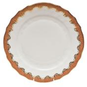 HEREND FISHSCALE RUST DINNER PLATE