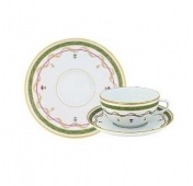 Haviland Vievx Paris Vert Tea Cup and Saucer