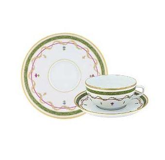 Haviland Vievx Paris Vert Tea Cup and Saucer