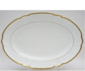 Haviland and Parlon Colette Gold Oval Platter