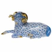 Herend Blue Ram
