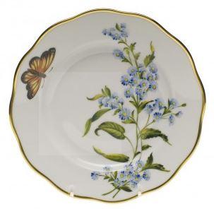 Herend Blue Wood Aster Salad Plate