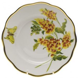 Herend Butterfly Weed Salad Plate