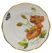 Herend California Poppy Salad Plate