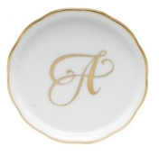 Herend Monogrammed Coaster A