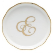 Herend Monogrammed Coaster E