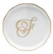 Herend Monogrammed Coaster F