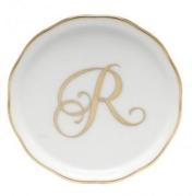 Herend Monogrammed Coaster R