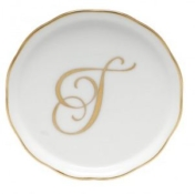 Herend Monogrammed Coaster T