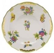 Herend Queen Victoria Green Boarder Dessert Plate