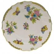 Herend Queen Victoria Green Boarder Dinner Plate