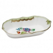 Herend Queen Victoria Green Border Narrow Pin Dish