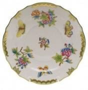 Herend Queen Victoria Green Border Salad Plate