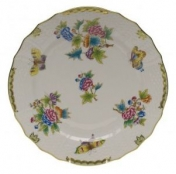 Herend Queen Victoria Green Border Service Plate
