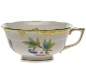 Herend Tea Cup Queen Victoria Green Border