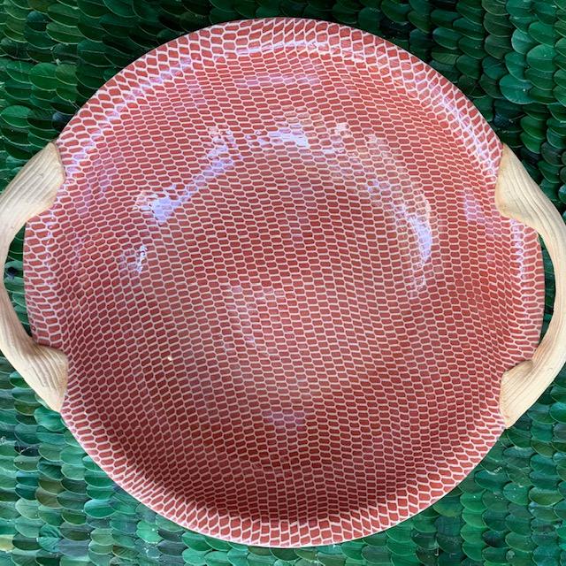 "Terrafirma 9"" Veg Bowl with Handles Prisma Poppy"