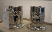 Antique Silver Bottle Holders