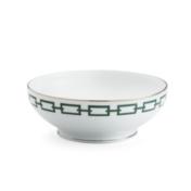 Ginori Impero Catene Emerald Salad Bowl
