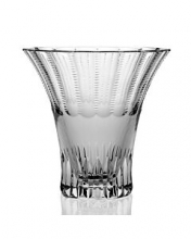 Flared handcut crystal vase