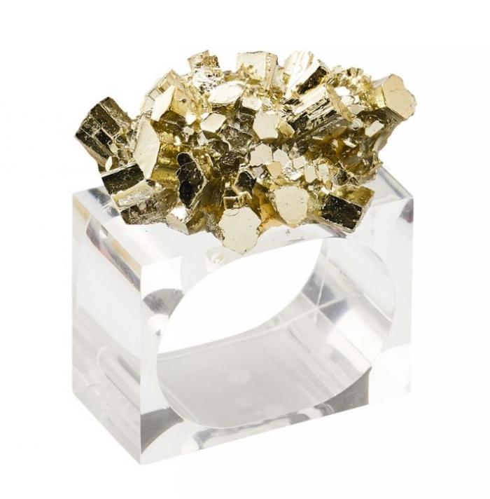 Kim Seybert Geode Napkin Ring Set of Four