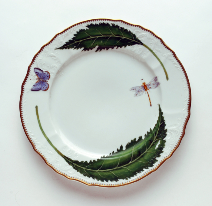 Green Leaf Green Leaf Dinner Plate