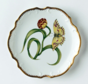 Morning Glory Morning Glory Bread & Butter Plate With Yellow Tulip