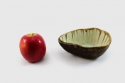 Footed Sauce Bowl Mint and Tortoise