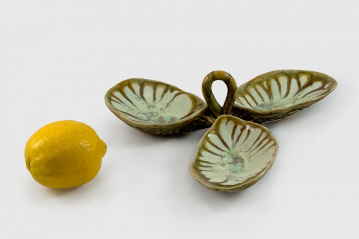 Condiment Dish With Handle Mint Tortoise