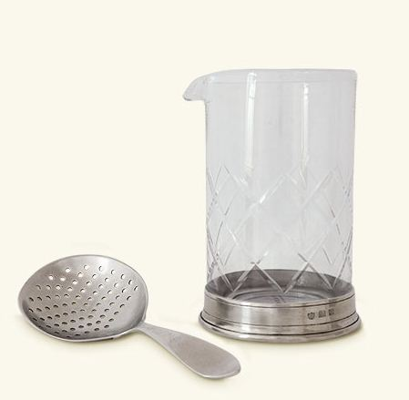 Match Mixing Glass and Cocktail Strainer Set